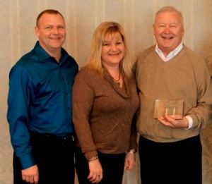 Randy Eddy Sr. (right) and with Randy Eddy, Jr. and Tonia Eddy. In 2012, Randy and Judy Eddy established an endowed fund at the Foundation.