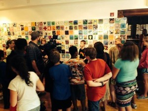 Spence Elementary School students visit the Compassion Project exhibit at the Pump House Regional Arts Center.
