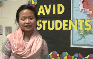 In the AVID video, Logan Freshman Julia Xiong explains some of the key things she is learning in the AVID class.