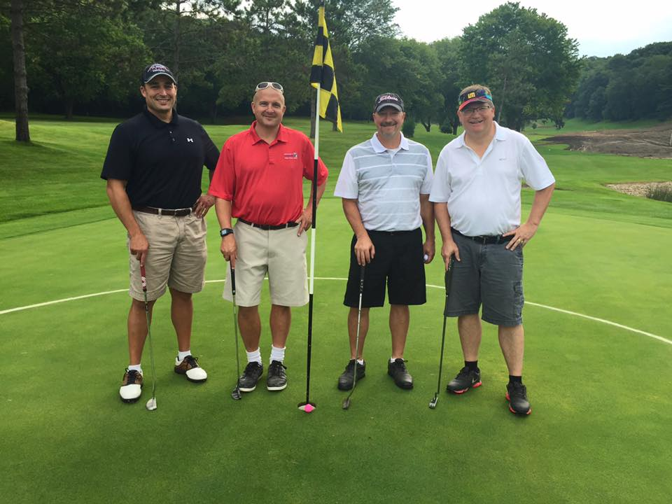 Playing for Emerson Elementary -- and winning a third-place prize of $125 -- were Associate Superintendent Troy Harcey, School Board member Jeff Meyer, Assistant Central High Principal Troy McDonald and Superintendent Randy Nelson.