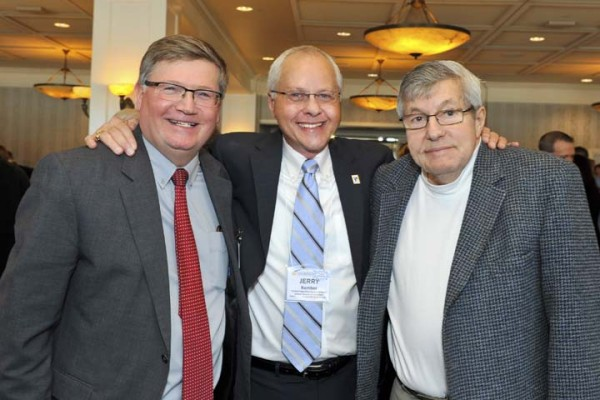 Superintendent Randy Nelson with former superintendents Jerry Kember and Dick Swantz.