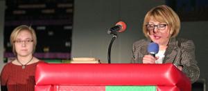 Annika Dome and Maureen Freedland podium