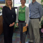 State Road Elementary Interim Principal Shelly Healy, with Kari Bersagel Braley of GROW La Crosse, and LPEF Treasurer Chris Blaylock - a $1,000 grant to GROW La Crosse (the second in two years) helps support continuing school gardens and student health at State Road and Hamilton elementary schools.