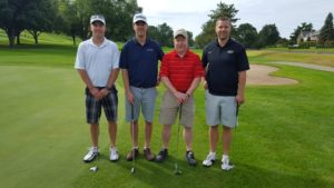 Luther Olson, Adam Keer, Dave Farrow, Curt Greeno, playing for Marine Credit Union.