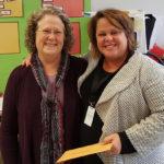 LPEF Board Member Margaret Dihlmann-Malzer with Tracy Taylor-Johnson of Summit Elementary.