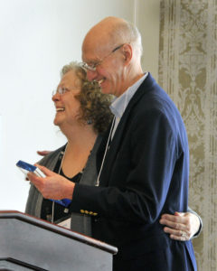 Margaret and Greg enjoy