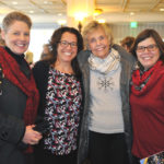 Spence Principal Shelley Shirel, with Emerson teacher Jean Brady, Carol Taebel (supporter of an LPEF endowment) and Spence teacher Ronnah Metz.