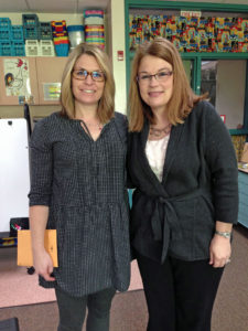 Southern Bluffs Teacher Kadie Koepke received a grant in support of alternative seating. Awarding the grant was Past Board President Tammy Larson.